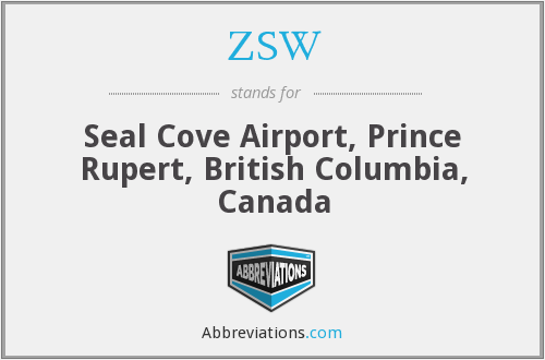 ZSW - Seal Cove Airport, Prince Rupert, British Columbia, Canada