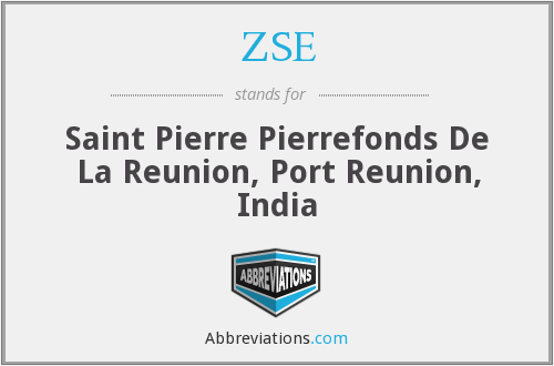 ZSE - Saint Pierre Pierrefonds De La Reunion, Port Reunion, India