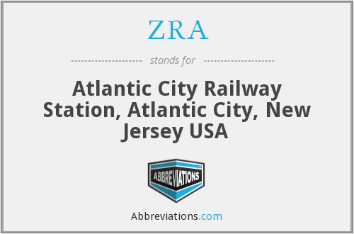 ZRA - Atlantic City Railway Station, Atlantic City, New Jersey USA