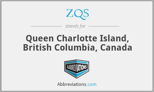 ZQS - Queen Charlotte Island, British Columbia, Canada