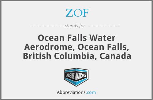 ZOF - Ocean Falls Water Aerodrome, Ocean Falls, British Columbia, Canada