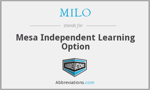 MILO - Mesa Independent Learning Option