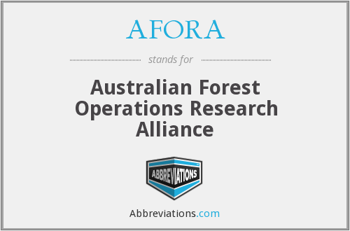 AFORA - Australian Forest Operations Research Alliance