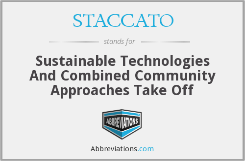 What does STACCATO stand for?