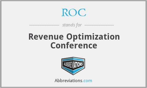 ROC - Revenue Optimization Conference