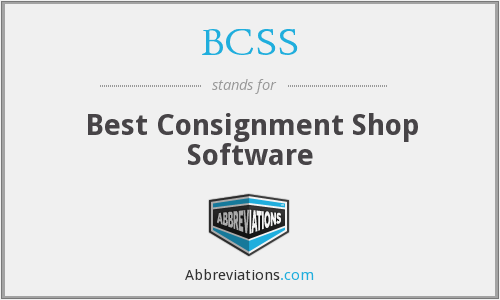 BCSS - Best Consignment Shop Software