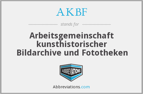 What does AKBF stand for?