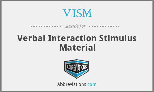 VISM - Verbal Interaction Stimulus Material