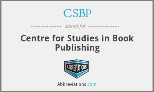 CSBP - Centre for Studies in Book Publishing