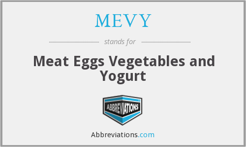 MEVY - Meat Eggs Vegetables and Yogurt