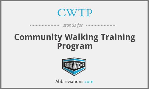 CWTP - Community Walking Training Program