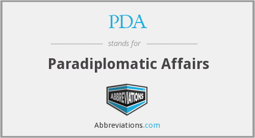 PDA - Paradiplomatic Affairs