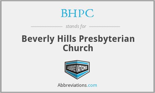 BHPC - Beverly Hills Presbyterian Church