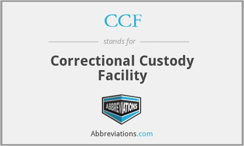 CCF - Correctional Custody Facility