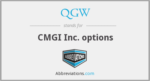 QGW - CMGI Inc. options
