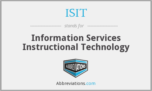 ISIT - Information Services Instructional Technology