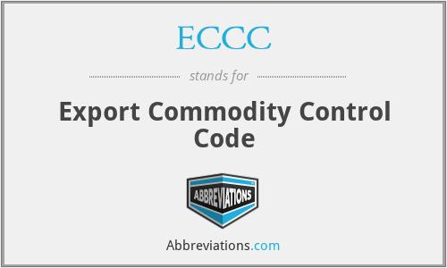ECCC - Export Commodity Control Code