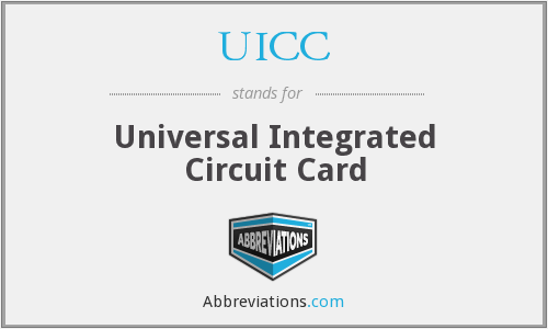 UICC - Universal Integrated Circuit Card
