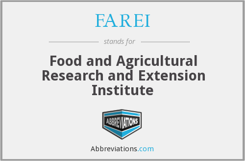 FAREI - Food and Agricultural Research and Extension Institute