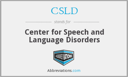 CSLD - Center for Speech and Language Disorders