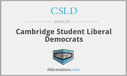 CSLD - Cambridge Student Liberal Democrats
