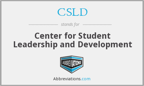 CSLD - Center for Student Leadership and Development