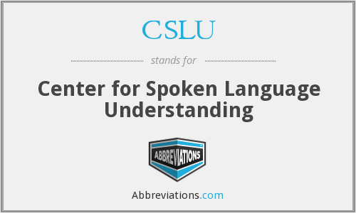 What does CSLU stand for?