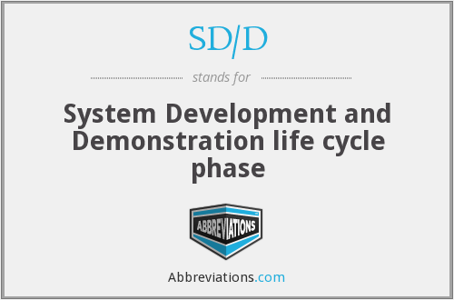 What does SD/D stand for?