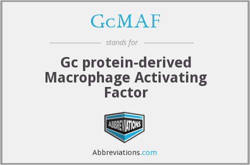 What does GCMAF stand for?