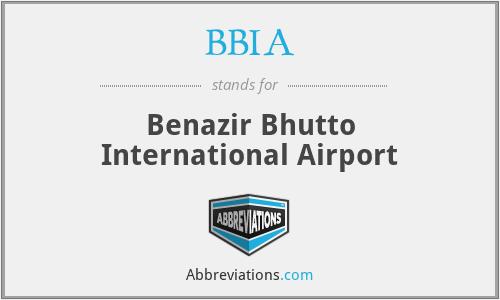 BBIA - Benazir Bhutto International Airport