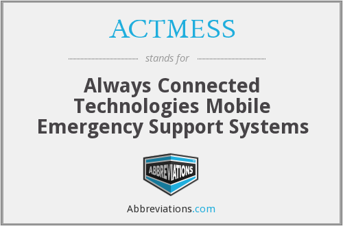 What does ACTMESS stand for?