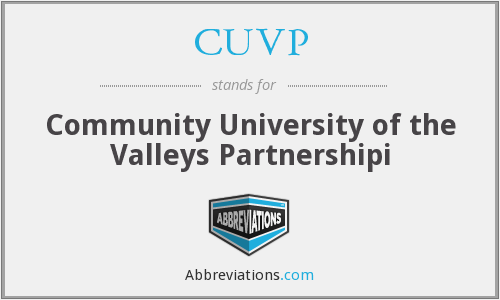 What does CUVP stand for?