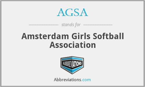 AGSA - Amsterdam Girls Softball Association