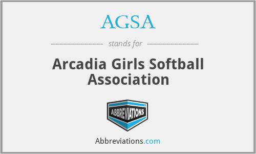 AGSA - Arcadia Girls Softball Association