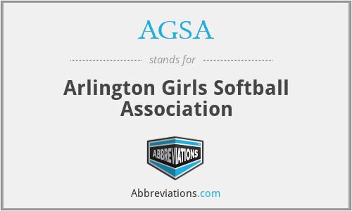 AGSA - Arlington Girls Softball Association
