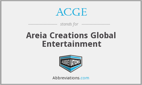 ACGE - Areia Creations Global Entertainment