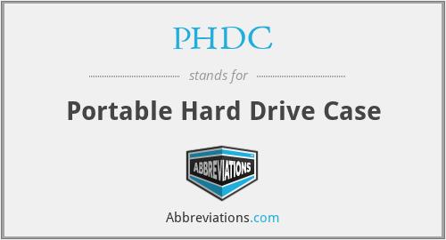 PHDC - Portable Hard Drive Case