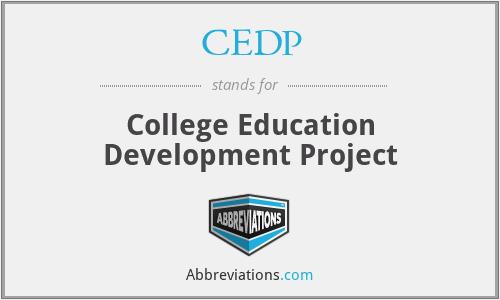 CEDP - College Education Development Project