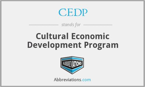 CEDP - Cultural Economic Development Program