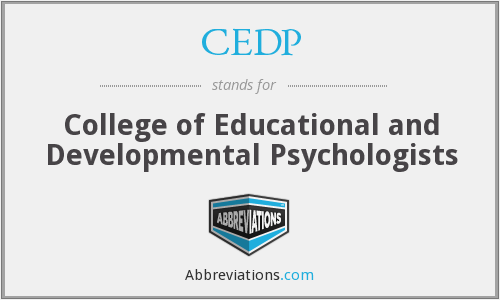 CEDP - College of Educational and Developmental Psychologists