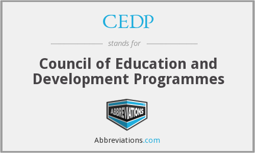CEDP - Council of Education and Development Programmes