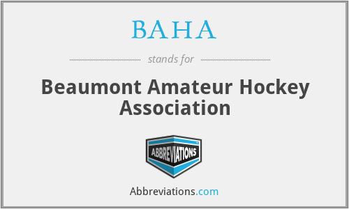 BAHA - Beaumont Amateur Hockey Association
