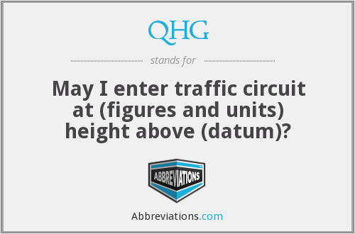 QHG - May I enter traffic circuit at (figures and units) height above (datum)?