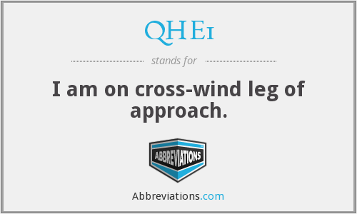 QHE1 - I am on cross-wind leg of approach.