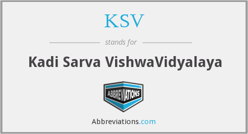 What does KSV stand for?