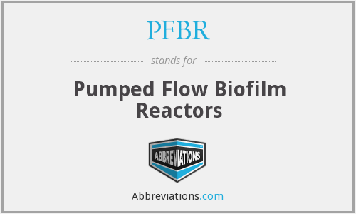 PFBR - Pumped Flow Biofilm Reactors