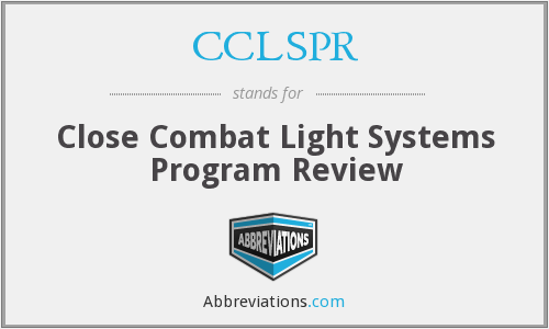 What does CCLSPR stand for?