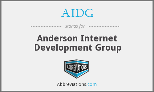 AIDG - Anderson Internet Development Group