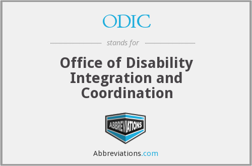 What does ODIC stand for?