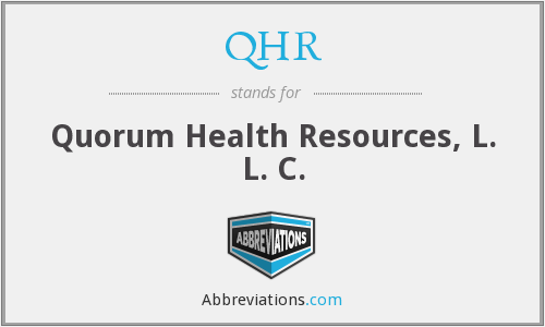 What does QHR stand for?